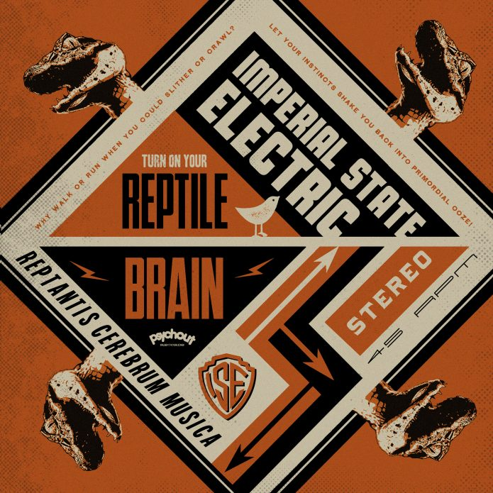 "Imperial State Electric - Reptile Brain (7"" vinyl, booze036, front sleeve, 1650 copies)"