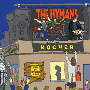 "The Hymans - Rocker (7"" vinyl, booze002, front sleeve, 500 copies)"