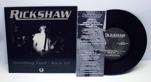 "Rickshaw / Noise of Reality - Split (7"" vinyl, booze003, front sleeve, 450 copies)"