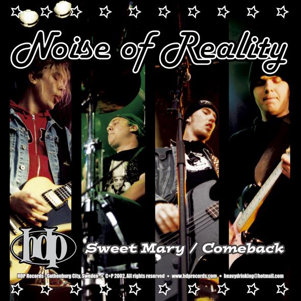 """Rickshaw / Noise of Reality - Split (7"""" vinyl, booze003, back sleeve, 500 copies)"""