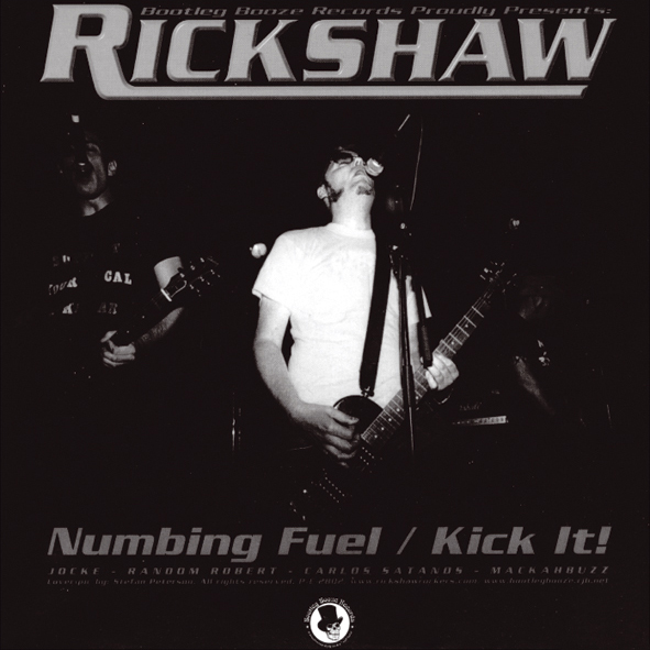 "Rickshaw / Noise of Reality - Split (7"" vinyl, booze003, front sleeve, 500 copies)"