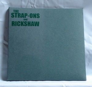 "The Strap-ons / Rickshaw - Split (7"" vinyl, booze004, limited version, cream green book edition, handnumbered, 55 copies.)"