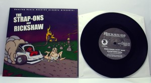 "The Strap-ons / Rickshaw - Split (7"" vinyl, booze004, regular version, 450 copies)"