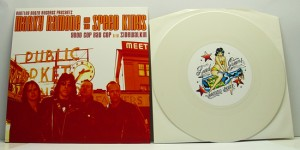 "Marky Ramone & The Speedkings - Good Cop Bad Cop (7"" white vinyl, booze007, limited version, 300 copies) (Random copies comes with two ultra cool temp tattoos.)"