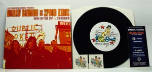 "Marky Ramone & The Speedkings - Good Cop Bad Cop (7"" black vinyl, booze007, regular version, 700 copies) (Random copies comes with two ultra cool temp tattoos.)"