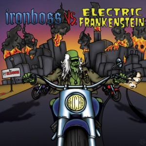"Electric Frankenstein / Ironboss - Split (7"" vinyl, booze008, front sleeve, 1000 copies)"