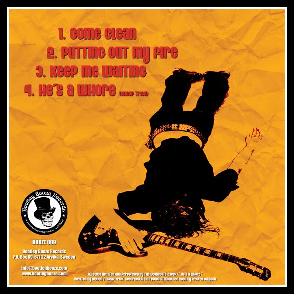 "The Deadbeats - Come Clean (7"" vinyl, booze009, back sleeve, 500 copies)"