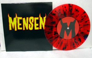 "Mensen - Ready To Go (7"" red vinyl with black splatter, booze011, limited version, 200 copies)"