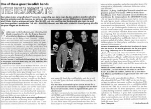 The Deadbeats - Long Hard Nights (LP vinyl, booze014, interview, OX-fanzine #58)