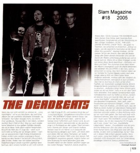 The Deadbeats - Long Hard Nights (LP vinyl, booze014, interview, Slam Magazine #18)