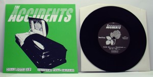 "The Accidents - Dead Guys (7"" black vinyl, booze015, european tour version with green sleeve, hand-numbered, 26 copies)"