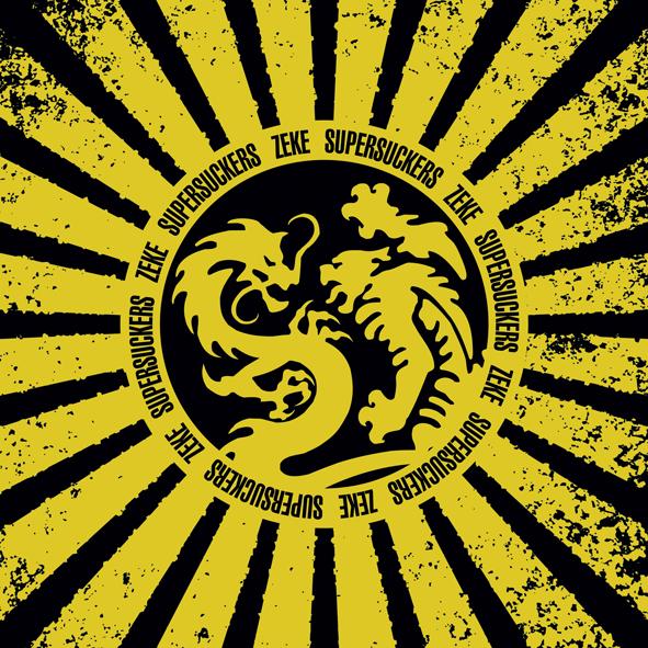"""Supersuckers / Zeke - Split (7"""" split vinyl, booze017, front sleeve, 1000 copies)"""