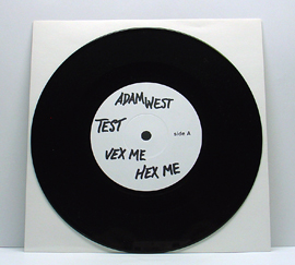 """Supersuckers / Zeke - Split (7"""" split vinyl, black vinyl, booze017, testpress, 5 copies). *** Other info: Booze 018, Adam West """"Vex Me Hex Me"""", did not have any testpressings, but Booze 017, Supersuckers/Zeke split, and Booze 018 were pressed at the same time and there was an error in marking these. ***"""