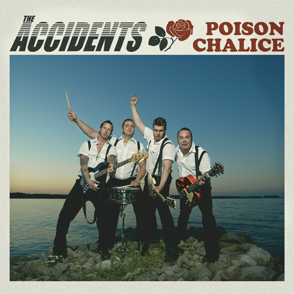 The Accidents - Poison Chalice (LP, booze019, front sleeve, 500 copies)