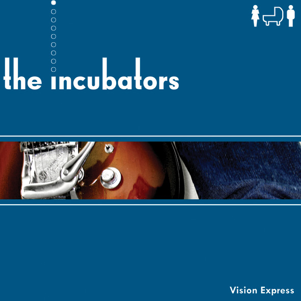 "The Incubators - Vision Express (7"" vinyl, booze020, front sleeve, 500 copies)"