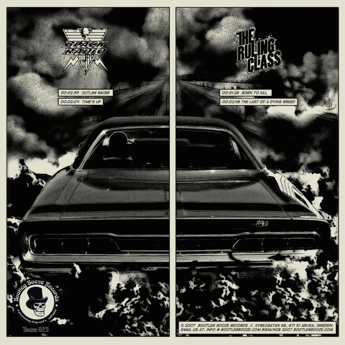 "Black Radio / The Ruling Class - Split (7"" split vinyl, booze023, back sleeve, 500 copies)"