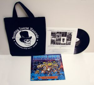 Various Artists - Bootleg Series Vol.1 - Up North/Downunder (LP vinyl, booze024, mailorder version, black vinyl with canvas record bag, 50 band copies and 50 mailorder copies. 100 copies)