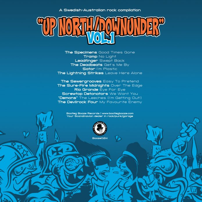 Various Artists - Bootleg Series Vol.1 - Up North/Downunder (LP vinyl, booze024, back sleeve, 500 copies)