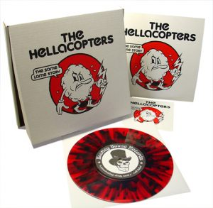"The Hellacopters - Same Lame Story (7"" vinyl, booze025, boozersclub version, transparent red vinyl with black splatter, comes in a screenprinted cardboard box with an exclusive sticker, 200 copies.)"
