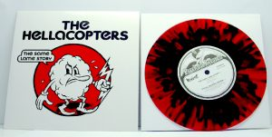"The Hellacopters - Same Lame Story (7"" vinyl, booze025, regular version, transparent red vinyl with black splatter, 800 copies)"