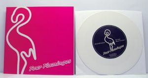"Four Flamingos - Mad Evil Woman (7"" vinyl, booze026, boozersclub version, white vinyl, 200 copies)"