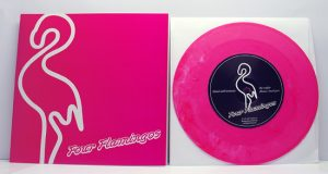 "Four Flamingos - Mad Evil Woman (7"" vinyl, booze026, regular version, pink vinyl, 300 copies)"