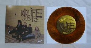 "Midlife Crisis - Cranked Up Really High (7"" vinyl, booze027, boozersclub version, black/yellow swirled vinyl, 230 copies)"