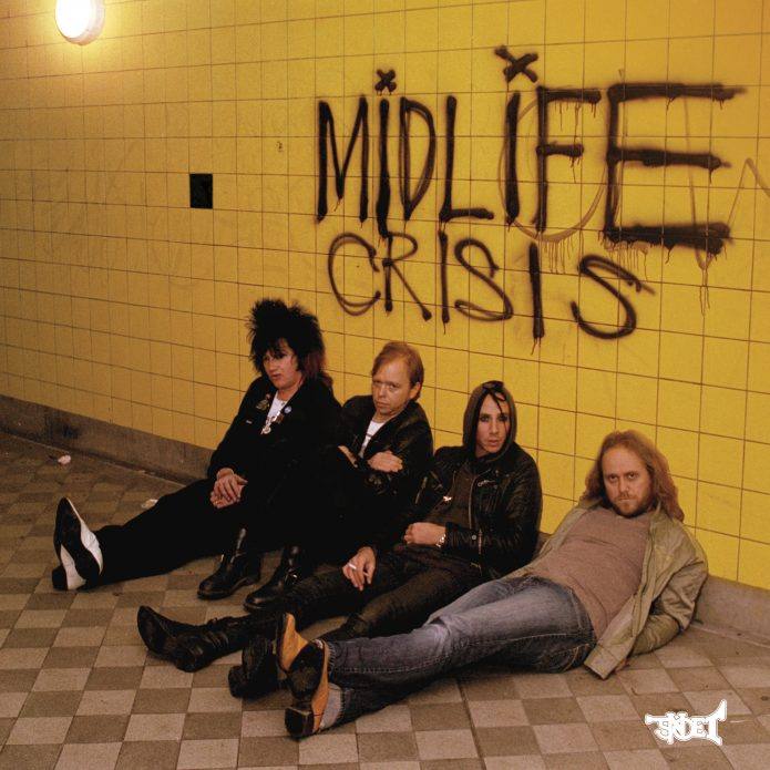 "Midlife Crisis - Cranked Up Really High (7"" vinyl, booze027, front sleeve, 1190 copies)"