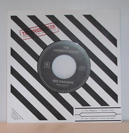 "Dee Rangers - Upside Down (7"" vinyl, booze030, jukebox series, boozersclub version: black vinyl with stamped back cover and jukebox insert, 170 copies)"