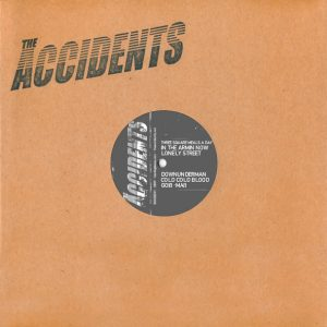 "The Accidents - Stigmata Rock'n' Rolli (10"" vinyl, booze031, front sleeve, 1000 copies)"