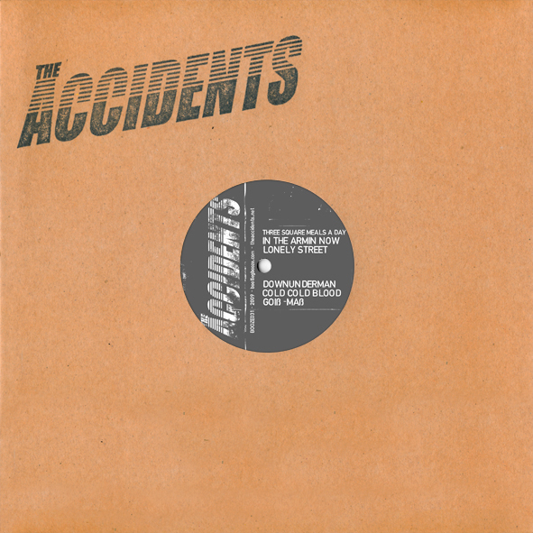 "The Accidents - Stigmata Rock'n' Rolli (10"" vinyl, booze031, front sleeve, 1000 copies)"
