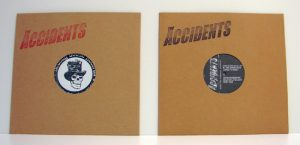 "The Accidents - Stigmata Rock'n' Rolli (10"" vinyl, booze031, regular version: black vinyl with black stamped logo on the cover, 900 copies, mailorder version: black vinyl with red stamped logo on the cover, 100 copies.)"