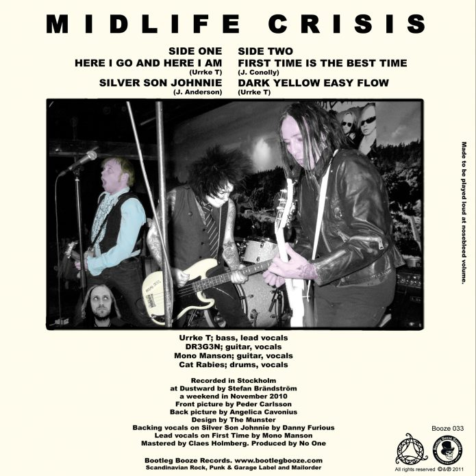 "Midlife Crisis - 3rd Crisis EP (7"" vinyl, booze033, back sleeve, 700 copies)"