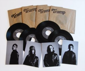 "Tramp - Indigo (4 x 7"" vinyl, booze034, regular version, black vinyl in individual paper bags, 400 copies)"