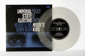 "Imperial State Electric/Mary's Kids - Split (7"" split vinyl, booze035, 1st press, regular version, clear vinyl, 375 copies)"