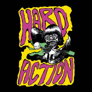 "Hard Action - Hands Dripping Red (7"" vinyl, booze037, boozersclub version, different artwork, handnumbered, 110 copies)"