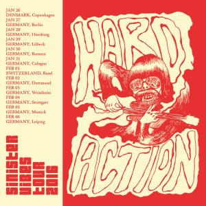 "Hard Action - Hands Dripping Red (7"" vinyl, booze037, tour version, 50 copies)"