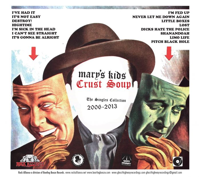 Mary's Kids: Crust Soup - The Singles Collection 2006-2013 (CD, rocka004, digipak, back sleeve, 500 copies)